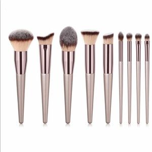 Other - 🎁 9-PC Dull Gold Makeup Brush Set 🎁
